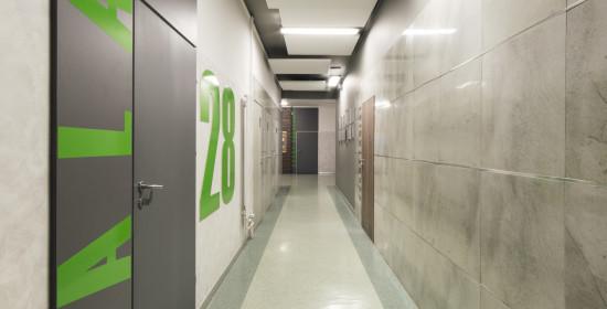 Modernizacja wnętrz korytarzy w ZS Nr 7 w Kaliszu   Wiekiera Architekci